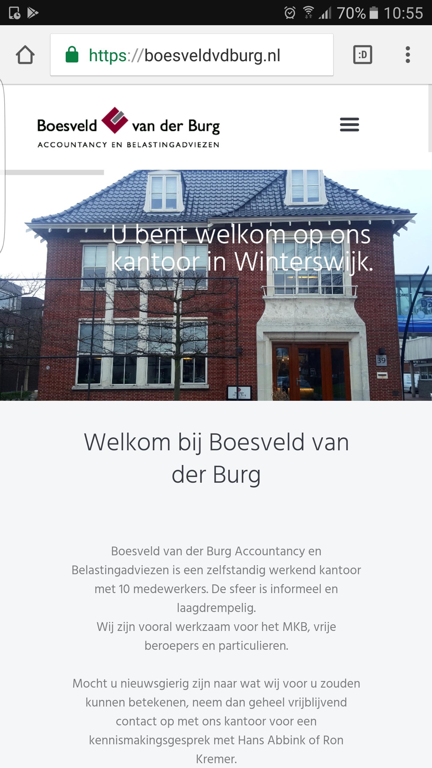 Boesveld van de Burg website